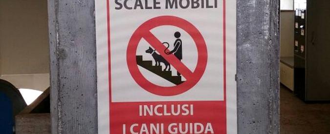 """Giudice rigetta ricorso non vedenti: """"Scala mobile vietata al cane guida? Non è discriminazione, è… una funivia"""""""