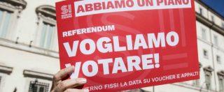 """Voucher, il referendum sarà il 28 maggio. Camusso: """"Election day"""". Con lei anche Emiliano, bersaniani e Cinquestelle"""