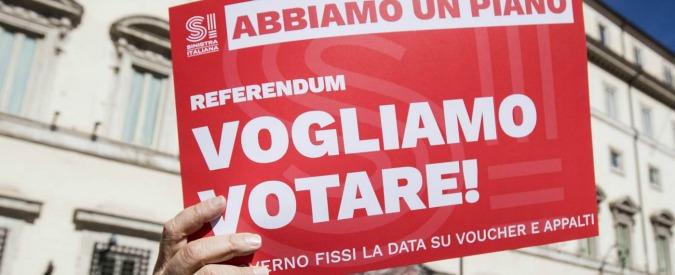 Risultati immagini per referendum 28 maggio voucher
