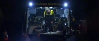 Borussia Dortmund, le prime immagini dopo le esplosioni al bus