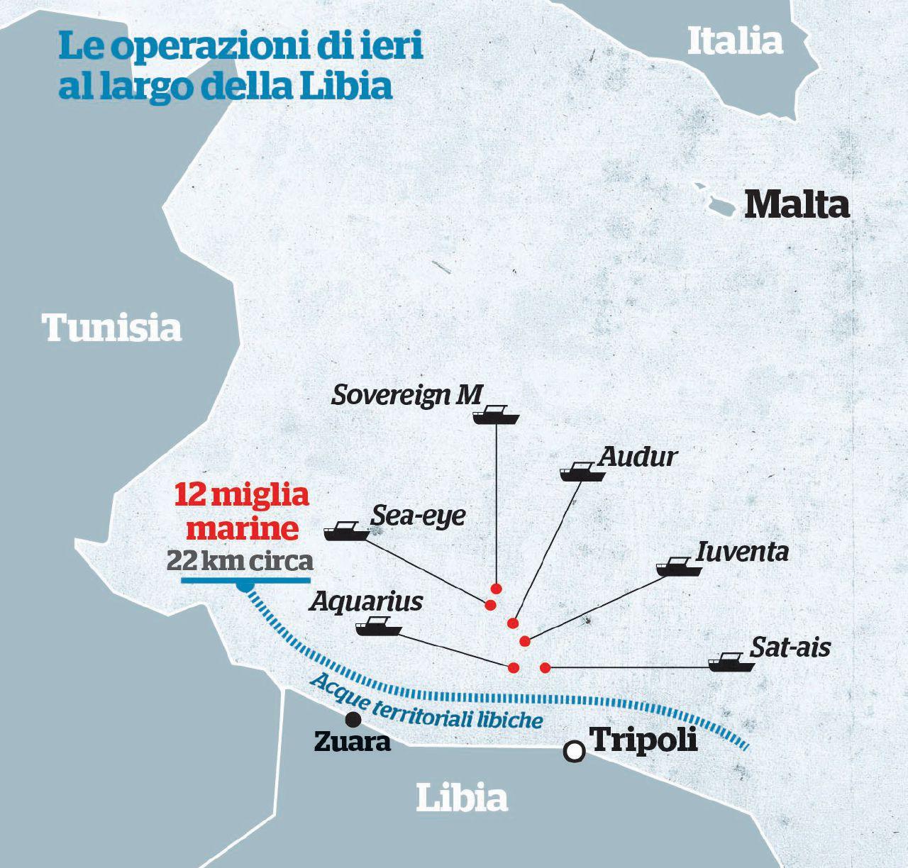 """Sulle barche davanti alla Libia: """"Eccoli, li stiamo salvando"""""""
