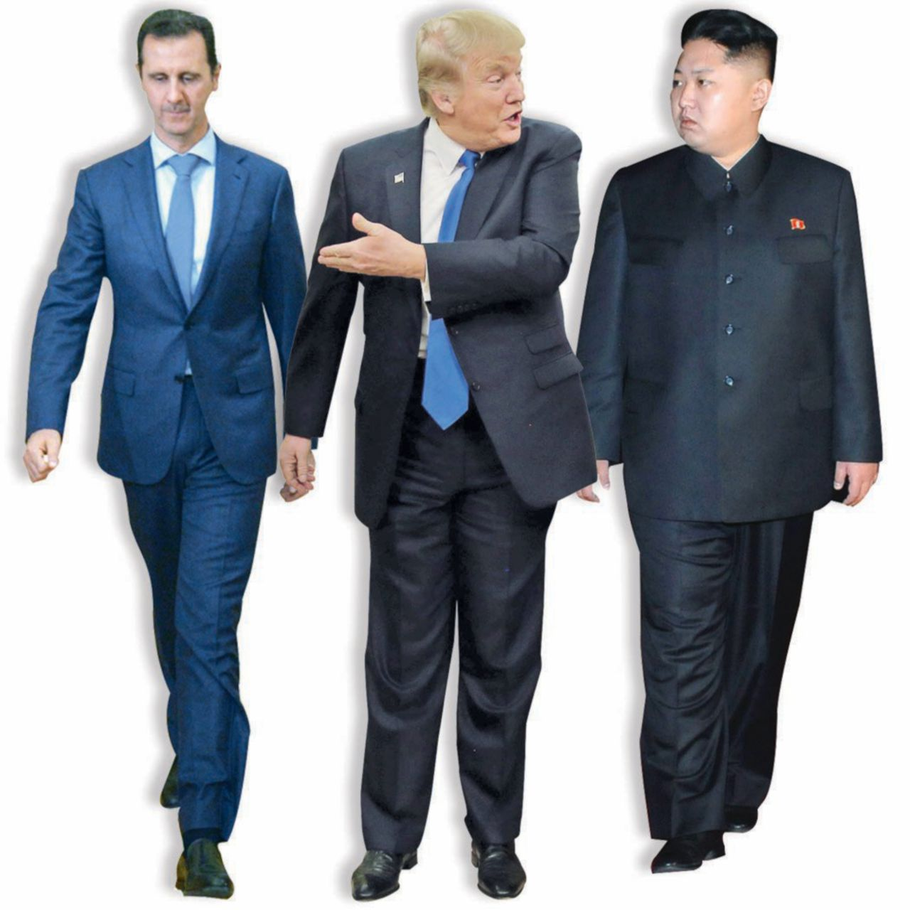 In Edicola sul Fatto Quotidiano del 9 aprile: Kim, Assad, Trump e Putin in guerra: un pazzo tira l'altro