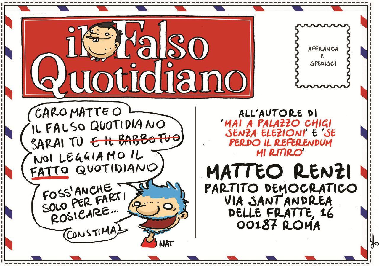 """Caro Matteo, il """"Falso quotidiano"""" sei tu. Noi siamo fieri del """"Fatto Quotidiano"""""""