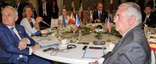"""G7 Esteri, Tillerson: """"Assad è alla fine"""". Alfano: """"Ma la transizione sarà politica"""". Russia, non c'è intesa su nuove sanzioni"""