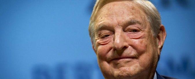"""Ue, il finanziere Soros: """"La crisi bancaria e quella migratoria in Italia sono la minaccia più pericolosa"""""""