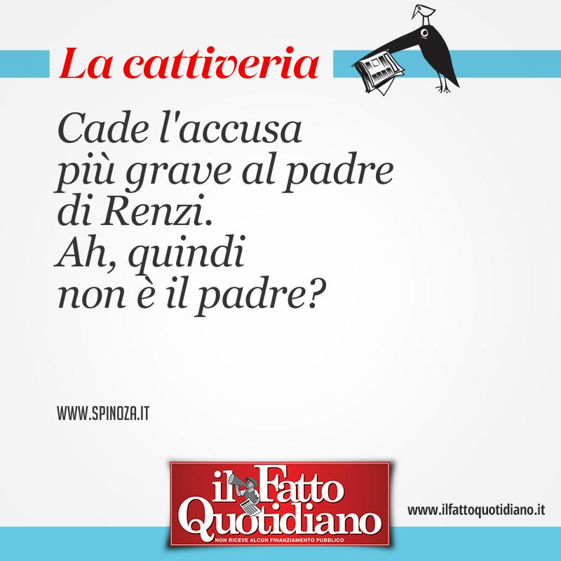 Cade l'accusa più grave al padre di Renzi. Ah, quindi non è il padre?