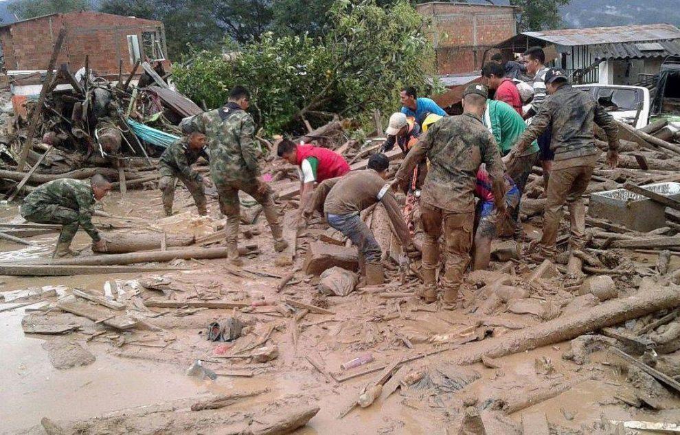 Valanga di fango in Colombia, quasi 200 morti