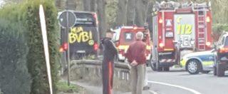Borussia Dortmund, tre esplosioni davanti al bus della squadra che va verso lo stadio. Ferito Bartra, gara rinviata