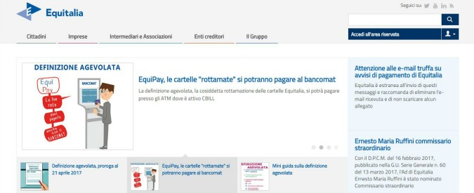 Rottamazione cartelle domande online fino a mezzanotte for Equitalia spid