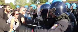 Lucca, corteo anti-G7 prova a forzare la zona rossa. Cariche e scontri con la polizia