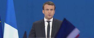 """Elezioni Francia, il lungo discorso di Macron: """"Sarò presidente. Voglio unire tutti i francesi"""""""