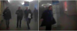 Esplosione di San Pietroburgo. Le prime immagini della stazione della metro invasa dal fumo