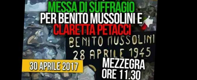 """Como, a Giulino di Mezzegra la messa in suffragio di Mussolini. L'Anpi protesta: """"Non tollerabili le esternazioni fasciste"""""""