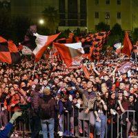 Foto LaPresse – Donato Fasano23-04-2017  Foggia, ItaliaSport CalcioFesta a Foggia, dopo 19 anni i rossoneri tornano in Serie BNella foto: la città in festa per la promozione
