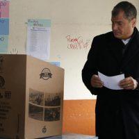 Rafael Correa, presidente uscente