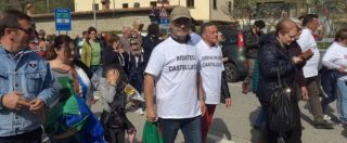 """Terremotati in piazza a Montecitorio: """"Risposte dal governo o fermiamo il Paese"""". Salaria bloccata ad Arquata e Amatrice"""