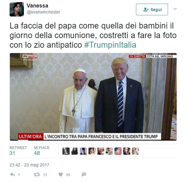 """Trump incontra papa Francesco e i social si scatenano: """"Qualcuno salvi Bergoglio"""""""