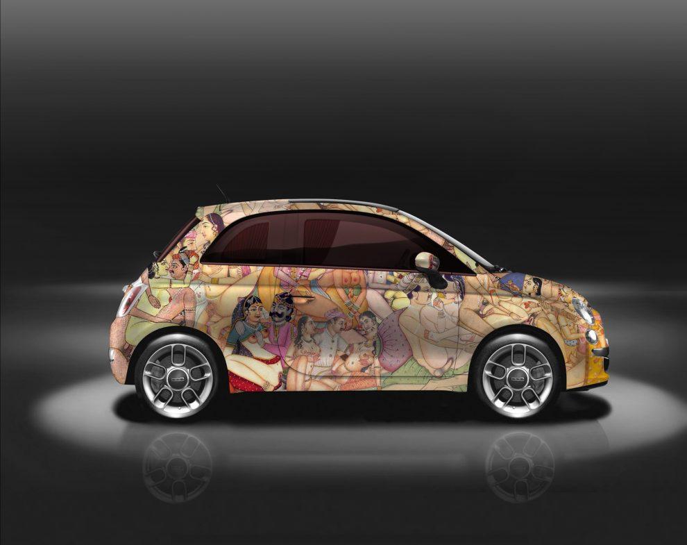 Fiat 500 Kar_masutra: opera della creatività provocatoria di Lapo Elkann