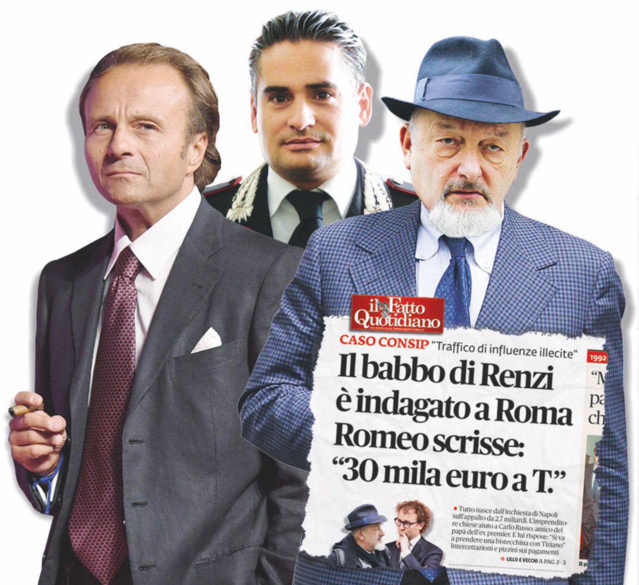 In Edicola sul Fatto Quotidiano del 13 maggio:  Il padre dell'ex premier sostiene di aver saputo di essere indagato dopo aver parlato con Marco Lillo