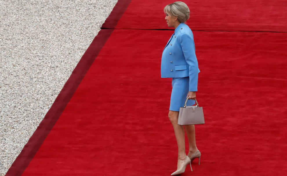 Brigitte Macron all'Eliseo
