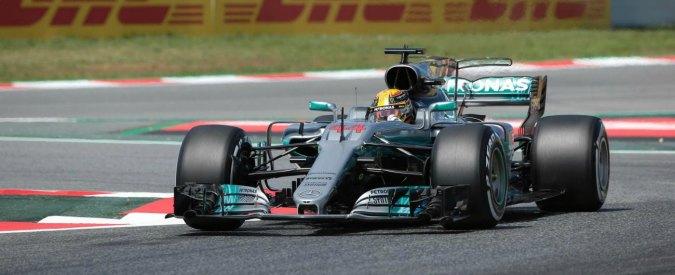 Formula 1, Gp Spagna: Hamilton in pole davanti a Vettel e Bottas. Raikkonen 4°