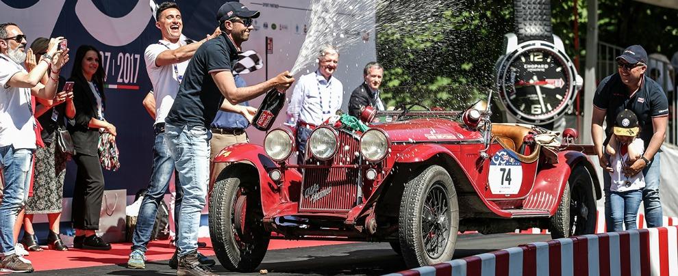 """Mille Miglia 2017, trionfano l'Italia e le """"vecchie"""" Alfa Romeo"""