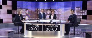 """Elezioni Francia, rissa tv tra Macron e Le Pen: """"Vergognoso, candidato dell'elite"""", """"Bugiarda, Le Pen candidati da 40 anni"""""""
