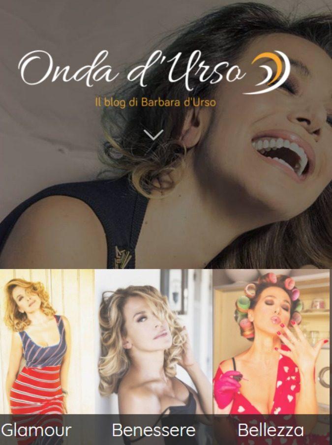Barbara D'Urso lancia il suo blog, Onda d'Urso (avanguardia pura). Più che un sito di news un album fotografico con un solo soggetto