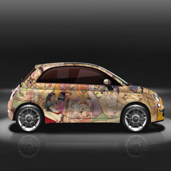 Fiat 500 Kar-masutra, l'ultima provocazione di Lapo Elkann – FOTO