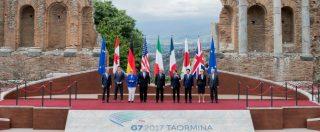 """G7 Taormina, sui migranti si abbozza: """"Sì a diritti ma anche difesa confini"""". Ma sul clima Trump rompe l'armonia. Prodi: """"Non aspettiamoci decisioni"""""""