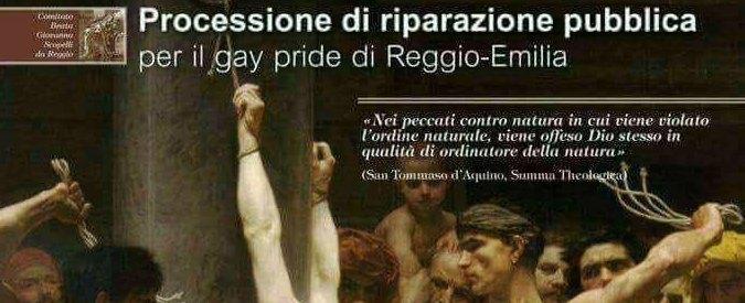 Gay Pride a Reggio Emilia, gruppo lancia processione di riparazione pubblica. La Diocesi prende le distanze