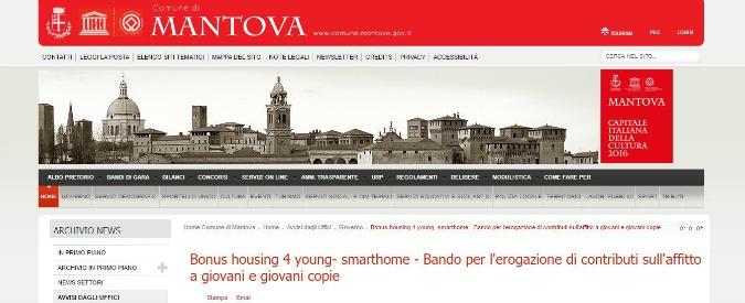 Mantova, un anno di affitto pagato ai giovani che si trasferiscono in città e fanno almeno 50 ore di volontariato