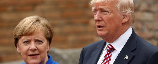 """Migranti, Trump: """"Crimini in Germania saliti del 10%"""". Merkel lo smentisce: """"I nostri dati dicono il contrario"""""""
