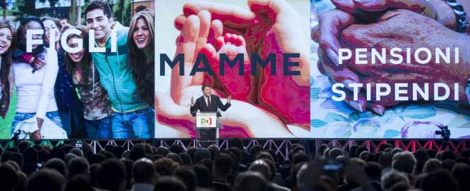 Assemblea Pd, Renzi celebra le mamme e dimentica le donne