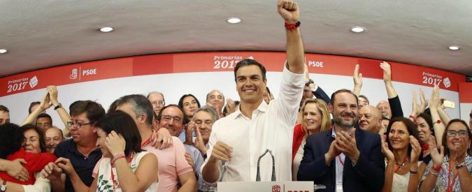 Spagna, Sànchez torna capo del Psoe. Ko la Diaz che lo volle fuori perché non voleva Rajoy. E ora il governo è a rischio