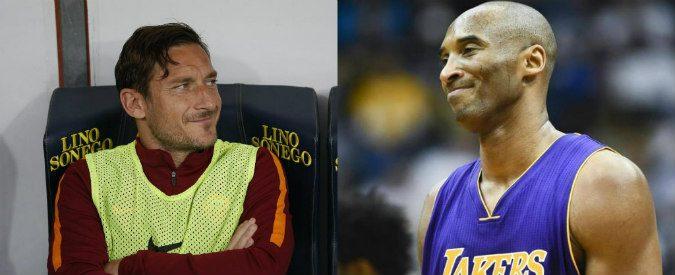Totti smette di giocare, come anche Kobe Bryant: tre possibili scenari della loro vita insieme
