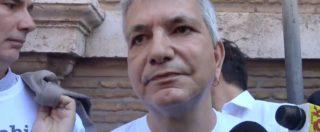 """Omofobia, sit-in di Sinistra Italiana. Vendola: """"Legge bloccata in Senato, serve uno scatto del Parlamento"""""""