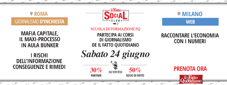 Corsi del Fatto Quotidiano, sabato le lezioni su Mafia Capitale e i numeri per raccontare l'Italia