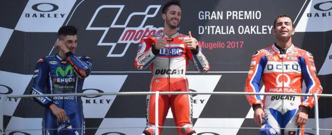 MotoGp Mugello, vince Dovizioso davanti a Vinales e Petrucci. Rossi arriva quarto