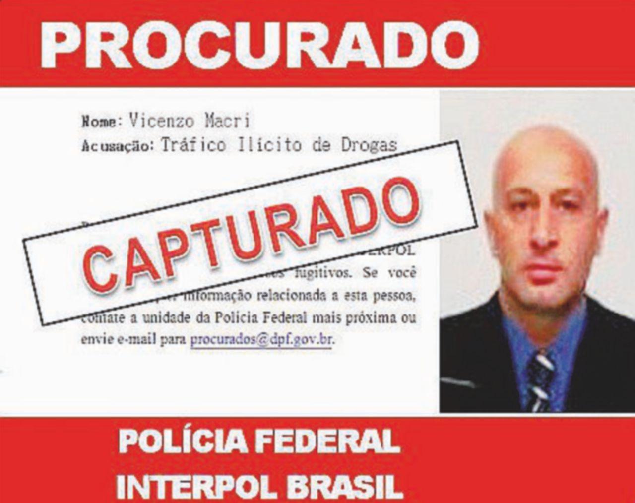 Il boss Vincenzo Macrì catturato a San Paolo in Brasile: preparava la fuga in Venezuela