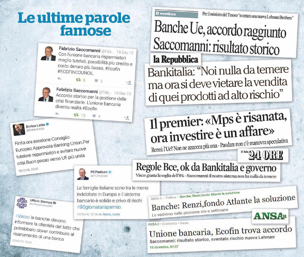I volenterosi carnefici delle banche italiane. Una lista incompleta