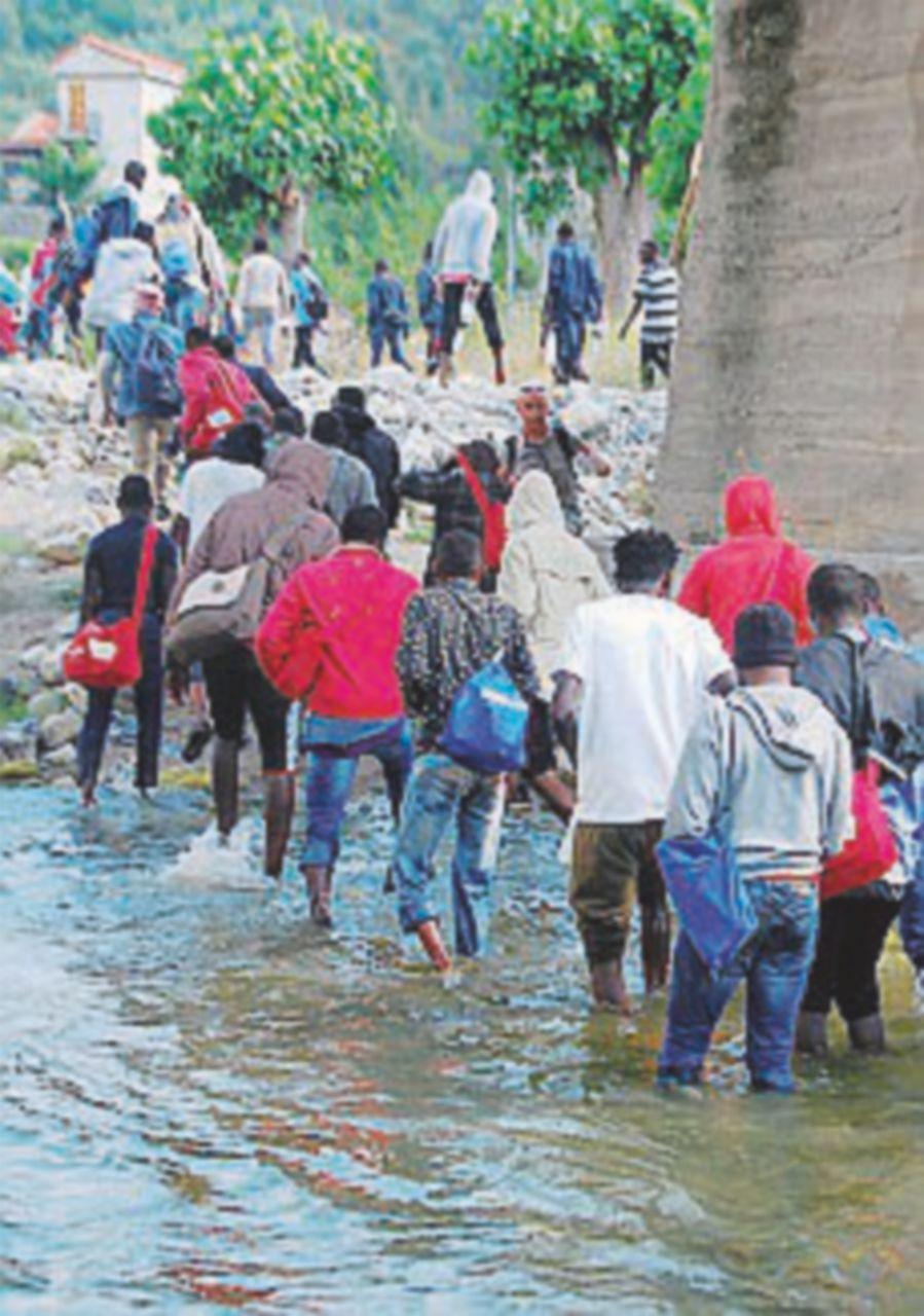 In fuga 400 rifugiati nei boschi al confine tra Francia e Italia