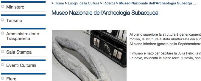 Musei, il fantasma di quello dell'archeologia subacquea a Grado: dopo 25 anni è solo sul sito