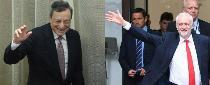 Draghi segua l'esempio di Jeremy Corbyn: moneta per il popolo, non solo per le banche