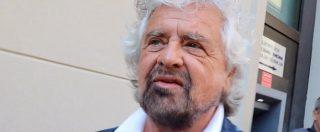 """Legge elettorale, l'ironia di Grillo dal palco di Asti: """"Tutti in Trentino"""". Ai giornalisti: """"Domande? Immaginatevi le risposte"""""""