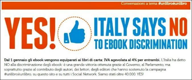 Ebook come i libri: Iva al 4 per cento, ok definitivo dall'Europa