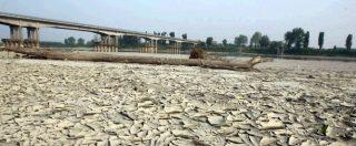 Emergenza siccità: tecnici sotto scorta in Irpinia, il Po ridotto a 13 centimetri e le capre pascolano nel lago di Bracciano