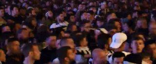 Torino, il momento in cui si scatena il panico: il movimento della folla in piazza San Carlo