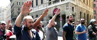 Ius soli, saluti romani e cori contro Boldrini al corteo di Forza nuova. Cinquanta denunciati