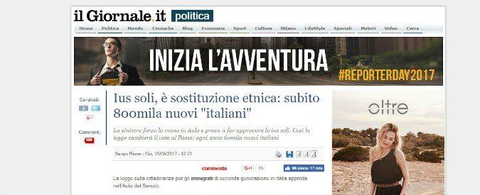 Ius soli, anatomia di un razzista italiano